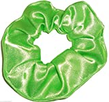 Satin Fabric Hair Scrunchie Handmade By Scrunchies By Sherry (Lime Green)