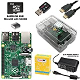 CanaKit Raspberry Pi B+ Complete Starter Kit with WiFi Adapter (Raspberry Pi B Plus + WiFi Dongle + 8GB SD Card + Case + Power Supply + HDMI Cable)