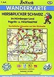 Fritsch Karten, Nr.72, Hersbrucker Alb in der Frankenalb, Pegnitz- und Hirschbachtal