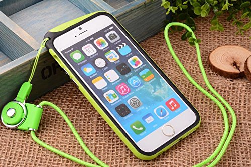 Nancy'S Shop [Borderline Series] Apple Iphone 6 (4.7-Inch) Hang Rope Case - Long Neck Strap Hang Rope Design Tpu Hybrid Bumper Shock Absorbent Case For Apple Iphone 6 (4.7-Inch) At&T, Sprint, Verizon, Tmobile Verizon, T-Mobile, International (Iphone 6 4.7
