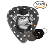 Cigar Monkey Picks Celluloid Guitar Picks 6 Pcs Guitar Plectrums Thin Medium Heavy For Guitar Bass Ukulele With Picks Holder