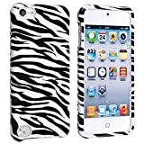 eForCity® Snap-on Case Compatible with Apple® iPod touch® 5th Generation, White/ Black Zebra
