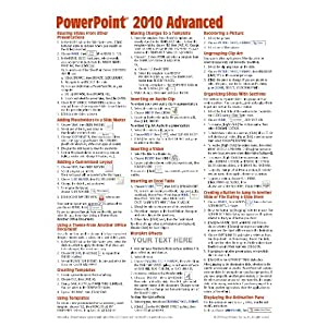 Microsoft Power Point Trial on Microsoft Powerpoint 2010 Advanced Quick Reference Guide  Cheat Sheet