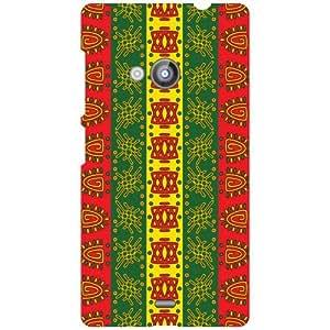 Nokia Lumia 535 Back Cover - Colored Lines Designer Cases