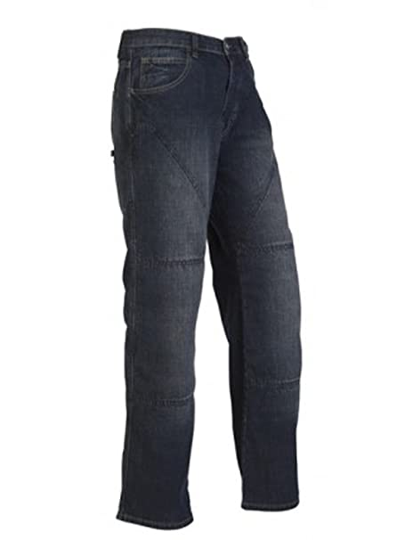Hornee SA-M3 Relax Jeans Bruised Lavage - Court Jambe