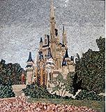 70x72 Marble Mosaic Art Tile Wall Mural Disney