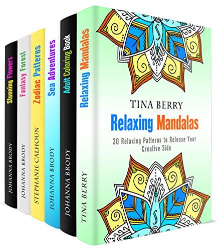Relaxing Patterns Box Set (6 in 1): Mandalas, Zodiac, and Nature-inspired Designs to Stir Your Imagination (Relaxation & Meditation)
