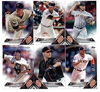2016 Topps Baseball Series 1 San Francisco Giants Team Set of 11 Cards: Joe Panik(#137), Hunter Pence(#154), Matt Cain(#171), Gregor Blanco(#177), Hunter Strickland(#196), Ryan Vogelsong(#230), Chris Heston(#267), Angel Pagan(#299), Buster Posey(#300), Ja