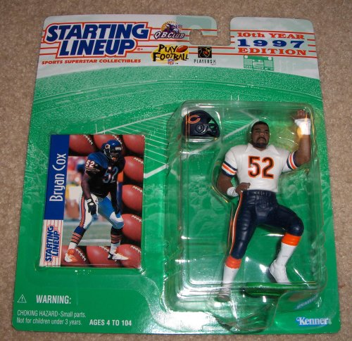 Starting Lineup Sports Super Star Collectible Figure - 1997 - Chicago Bears Bryan Cox - 1