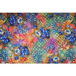 Triveni CREPE Fabrics (TSFD016_LIGHT GREEN)