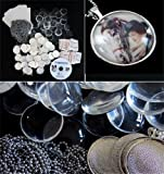 Instant Photo Jewelry Silver Glass Pendant Business Kit