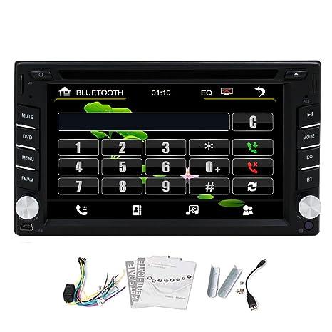 HD HD 2,015 Nuevo 6.2 2DIN PULGADAS Double Din d'šŠcran TFT En Dash unidad principale de DVD del coche de CD Reproductor De Video VCD CD estšŠreo Cubierta Audio Radio Head con Bluetooth, cable de entrada De Video RDS Accesorio