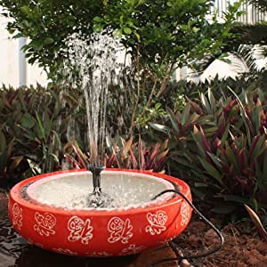 Danibos solar power panel kit water pump for for Garden pond amazon