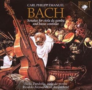 CPE Bach: Sonatas for Viola DA Gamba and Basso Continuo