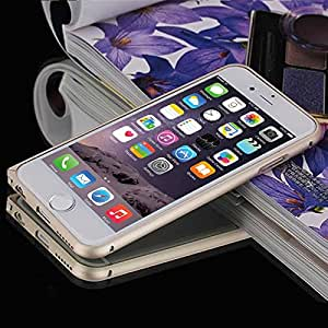 iPhone 6 Case, Apple iPhone 6 (4.7) Bumper Case, Dteck® Luxury Ultra Thin [ALUMINUM BUMPER] iPhone 6 (4.7) Premium Bumper Case Cover [Slim Fit Frame] Protective Bumper Case for Apple iPhone 6 (4.7) [2014 Release] with Free Random Color Touch Screen Stylus Pen & Screen Protector & Cleaning Cloth (Gold)