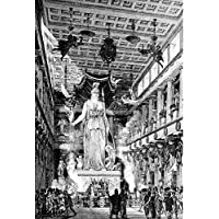 ArtzFolio Victorian Engraving Of The Ancient Interior Of The Parthenon Athens - Large Size 18.0 Inch X 26.6 Inch...
