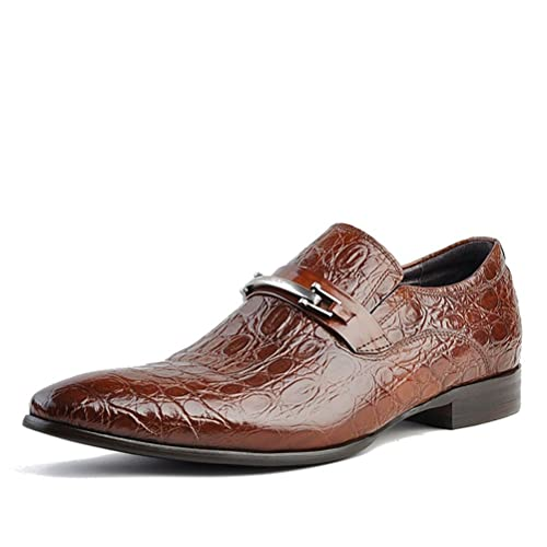 Chicago Embossed Leather Loafers Dress Shoes
