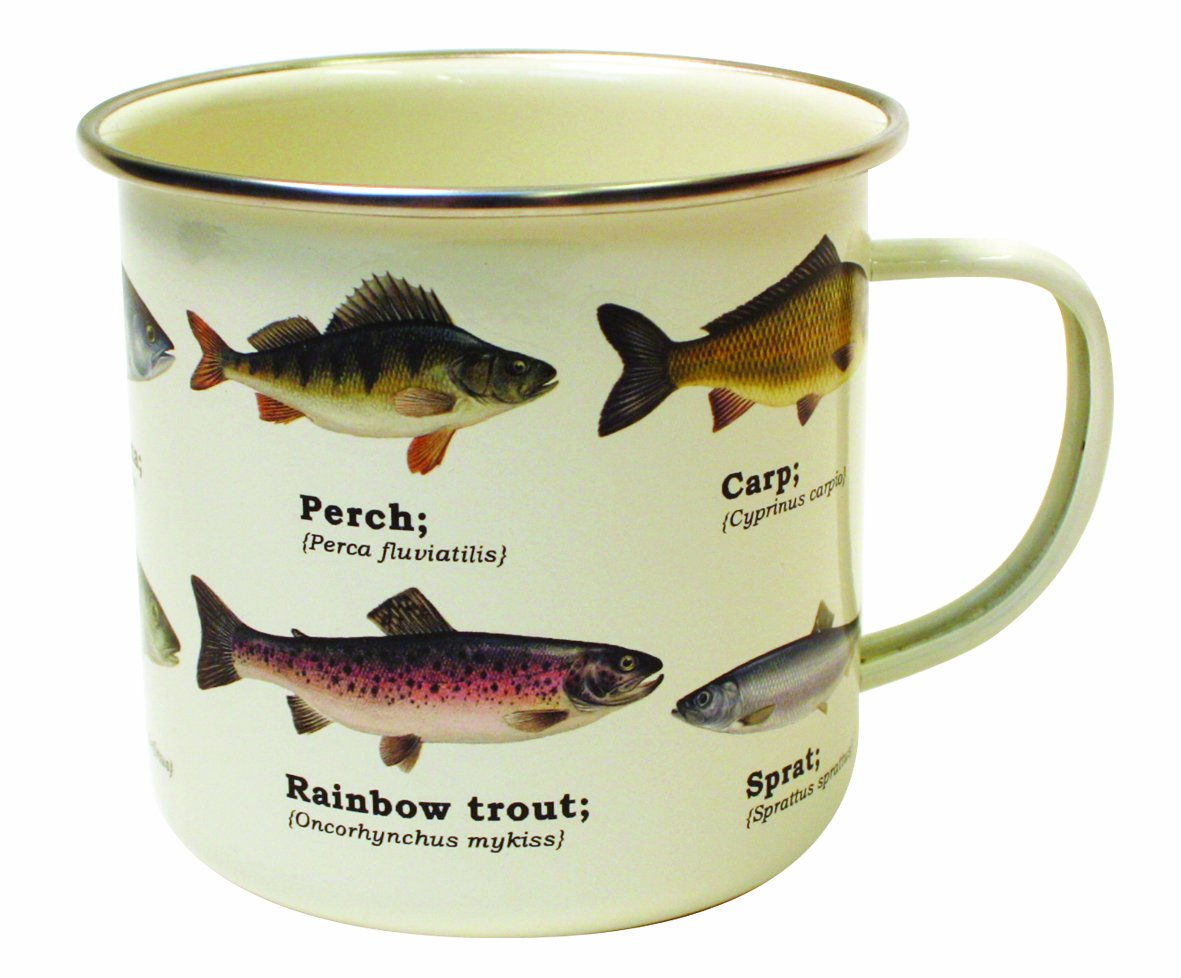 Gift Republic GR270027 Fish Enamel Mug, Multi