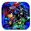 """Justice League Rescue 7""""x7"""" Dessert Plates (8 per pkg)"""