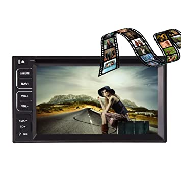 6.2-pouces VidšŠo Headunit ršŠcepteur sans fil Bluetooth en streaming Lecteur CD / Lecteur DVD Double DIN