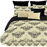 Street Revival Winged Skull Queen Comforter Set, Multi