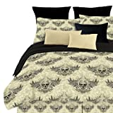 Street Revival Winged Skull Twin Comforter Set, Multi