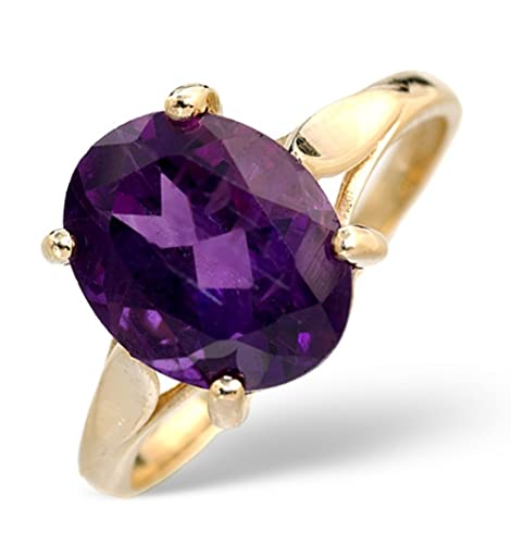 TheDiamondStore | Majestic Ring - Amethyst 2.25ct & Diamond - 9K Gold