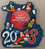 Walt Disney World 2013 Magnetic Photo Frame NEW Holds 2 x 2 inch Photo