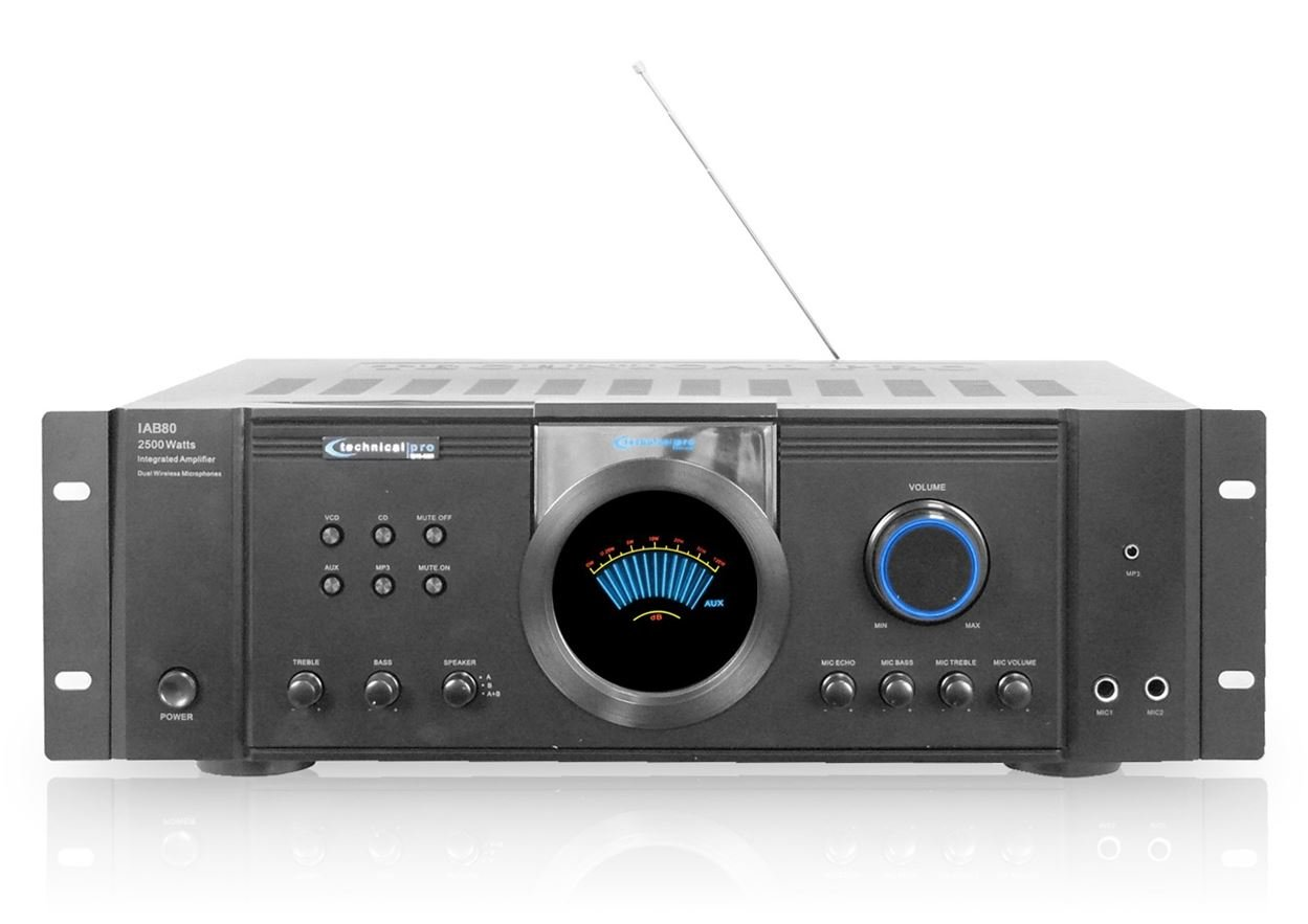 2500W DJ PROFESSIONAL HOME AUDIO DIGITAL STEREO 2 CHANNEL ...