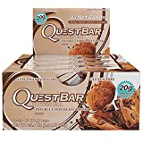 Quest Nutrition Protein Bar, Double Chocolate Chunk, 20g Protein, 2.1 OZ Bar, 12 Count