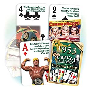 Flickback 1953 Trivia Playing Cards 60th Birthday or 60th Anniversary Gift