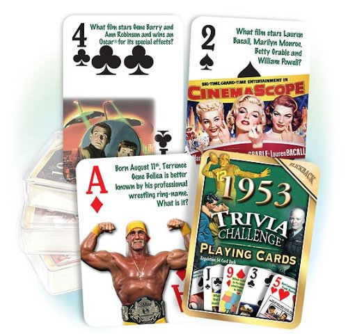 Flickback 1953 Trivia Playing Cards