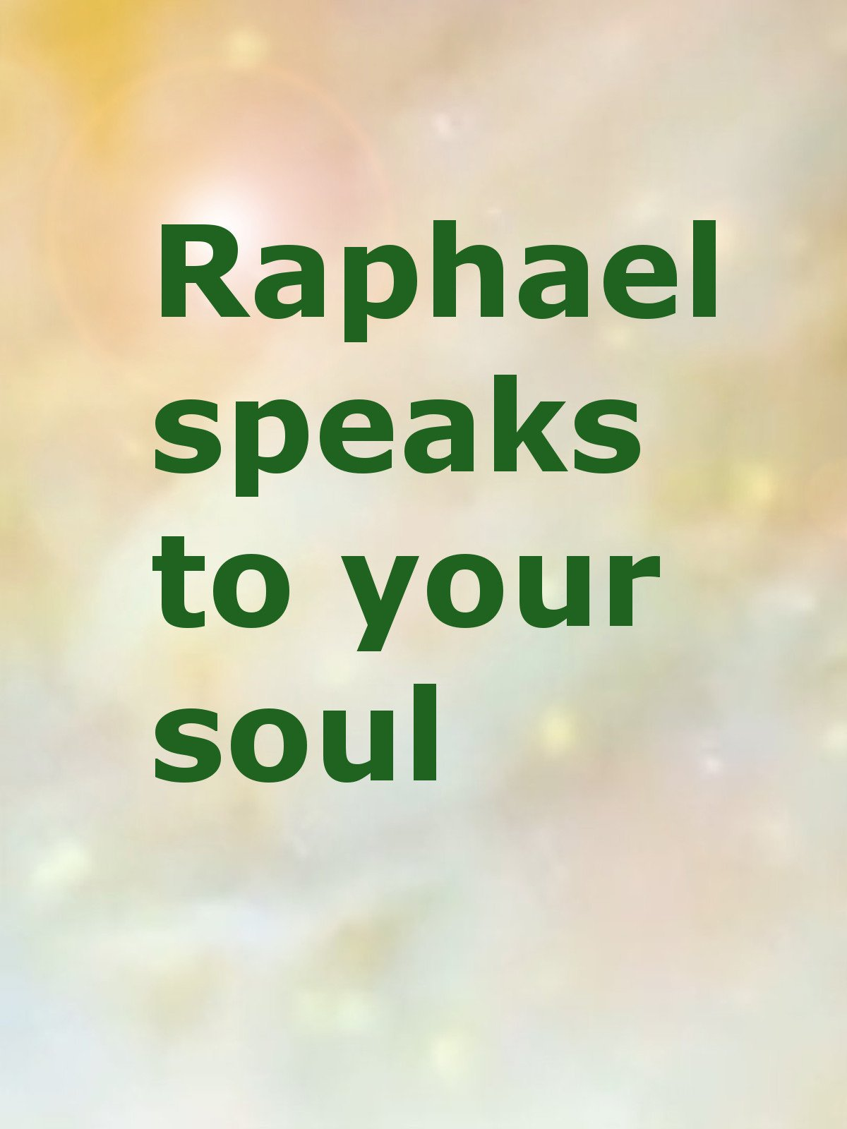 Rapheal speaks to your soul