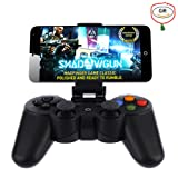 Baigeda Wireless Bluetooth Game Controller for Computer PC Game Hardware Joystick Laptop Console Joypad Rechargeable Android Devices Gamepad with Clip for Android Phone Tablet Pad Smart TV BOX Samsung (Color: Black)