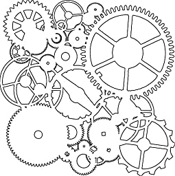 Crafters Workshop Template, 12 by 12-Inch, Gears