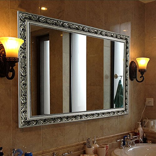 Rectangular Wall Mounted Mirror, Large Vertical Double-way Hanging, 32