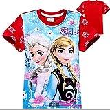 アナと雪の女王風 Tシャツ レッド (110)