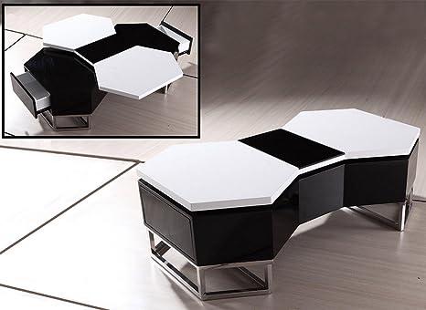 Modrest YA617 Modern Black and White Coffee Table