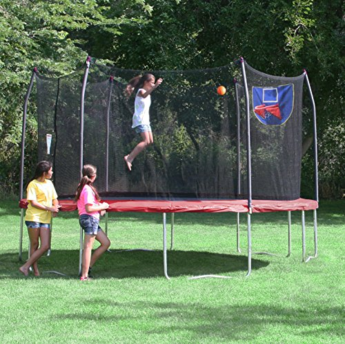 Skywalker Trampolines 15 Foot Sq Trampoline And Safety: 15 Ft Skywalker Jump N' Dunk Trampoline W/ Safety