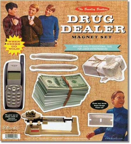 Blue Q Drug Dealer Magnet Set