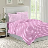 Ahmedabad Cotton Checks & Polka Cotton Double Bedsheet with 2 Pillow Covers
