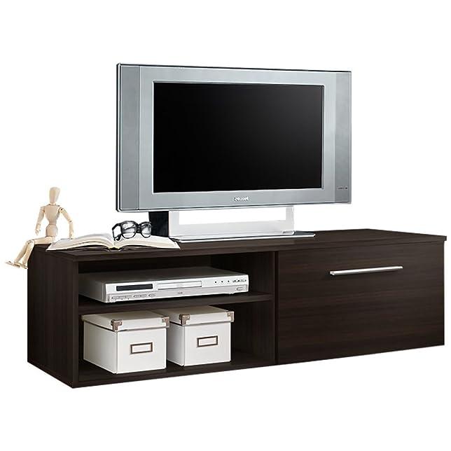 JUSThome BONI I Mobile TV Porta TV Supporti e mobili TV (AxLxP): 37x120x45 cm Wenge Opaco
