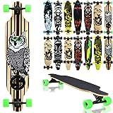 """Miganeo® Longboard 105x24 Long Board """"The Owl"""" Skateboard Surfboard komplett"""