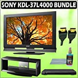 Sony Bravia L-Series KDL-37L4000 37-inch 720P LCD HDTV + Sony DVD Player w/ TV Stand Accessory Kit