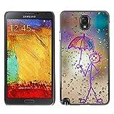 Stuss Case Hard Protective Case Cover Happy Rain Window Painting Samsung Galaxy Note 3 N9000 N9002 N9005