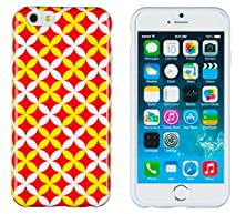 """buy Iphone 6 Case, Dandycase Perfect Pattern *No Chip/No Peel* Flexible Slim Case Cover For Apple Iphone 6 (4.7"""" Screen) - Lifetime Warranty [Red, White & Yellow Geometric Sequence]"""