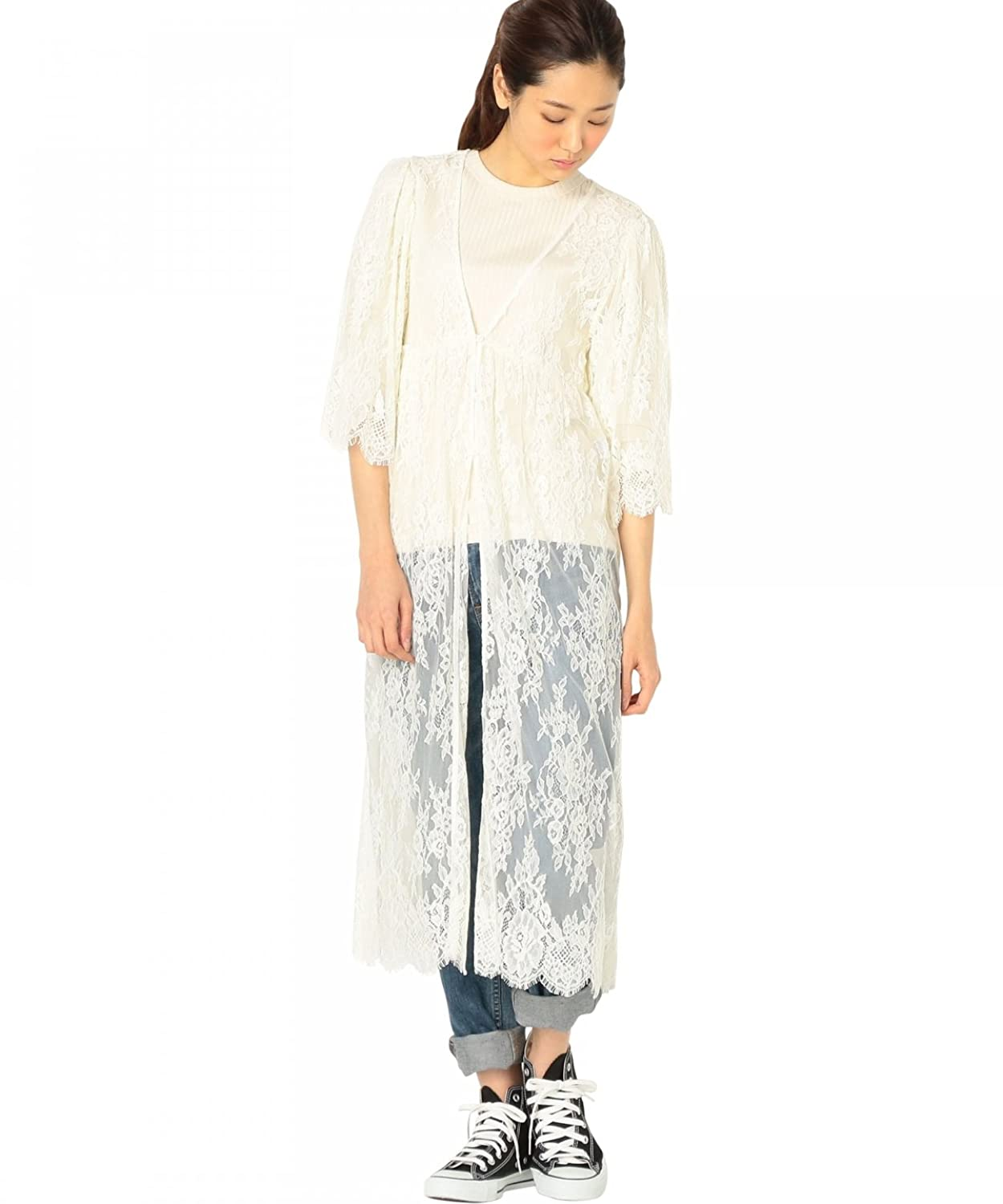(アナザーエディション) Another Edition AEMFC LACE LONG OP 56261992783 03 Off White FREE : 服&ファッション小物通販 | Amazon.co.jp