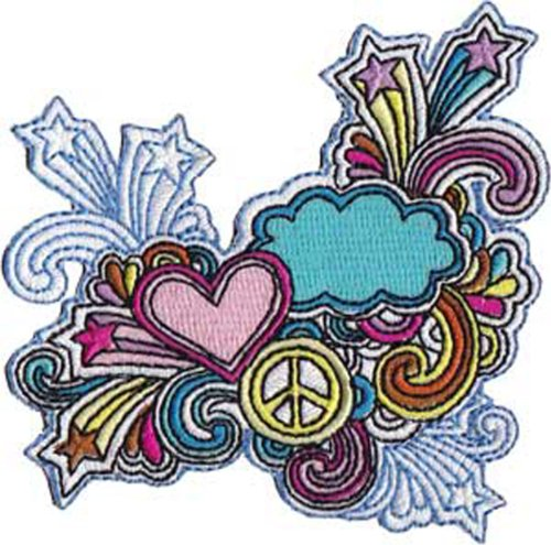 Application Peace and Love Patch