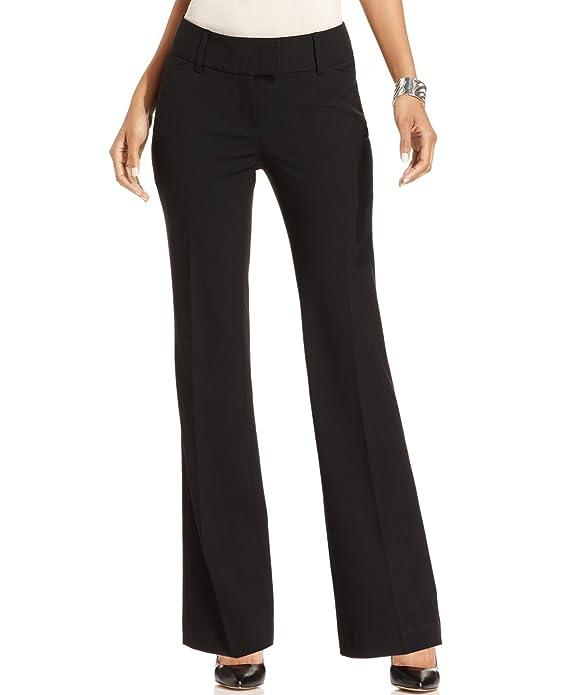 Charter Club Deep Women's Wide-Leg Tab-Over Dress Pants