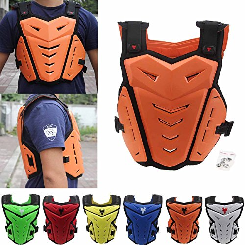 POSSBAY Motorcycle Body Armor Gear Back Chest Protectors Motocross Dirt Bike Unisex S to XXL For Riding Cycling Skating Skiing Scooter